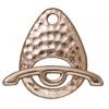 Toggle Ellipse Set Hammered Rhodium